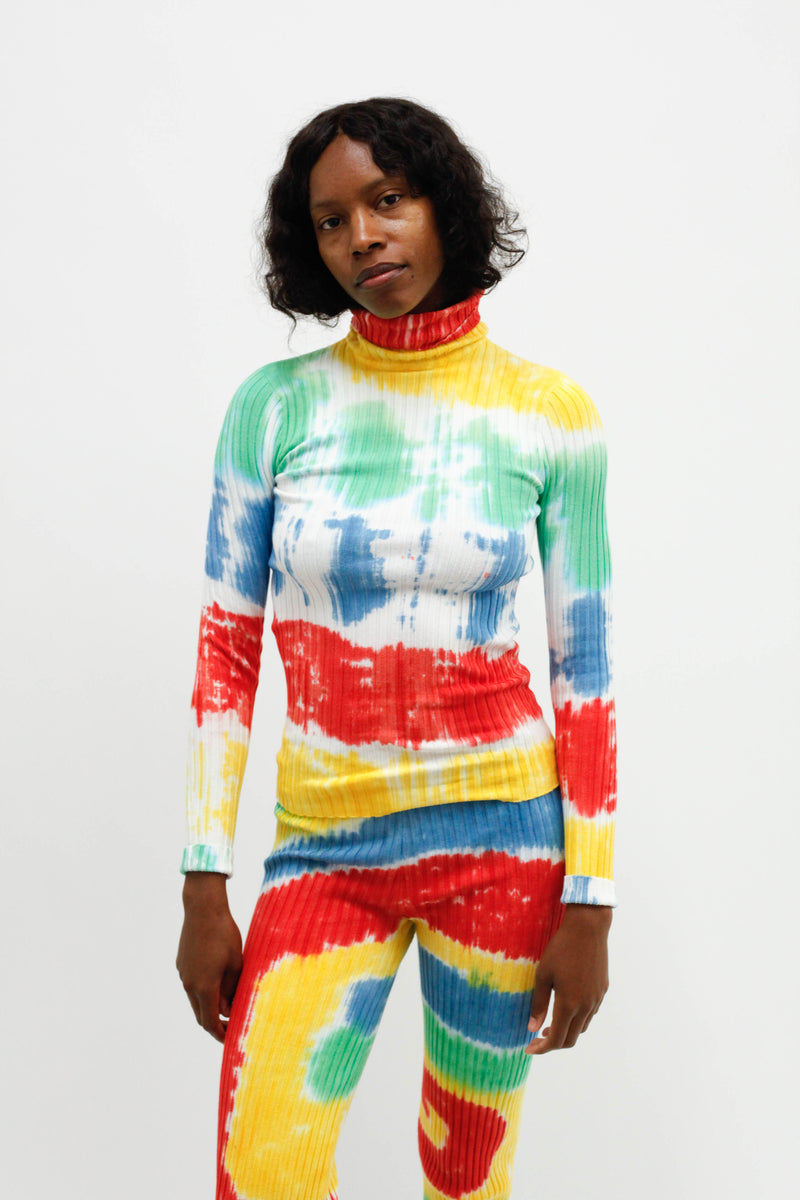 Sunlight Nonna Turtleneck - Tie-Dye Rainbow