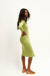 Lucille Midi Dress - Matcha