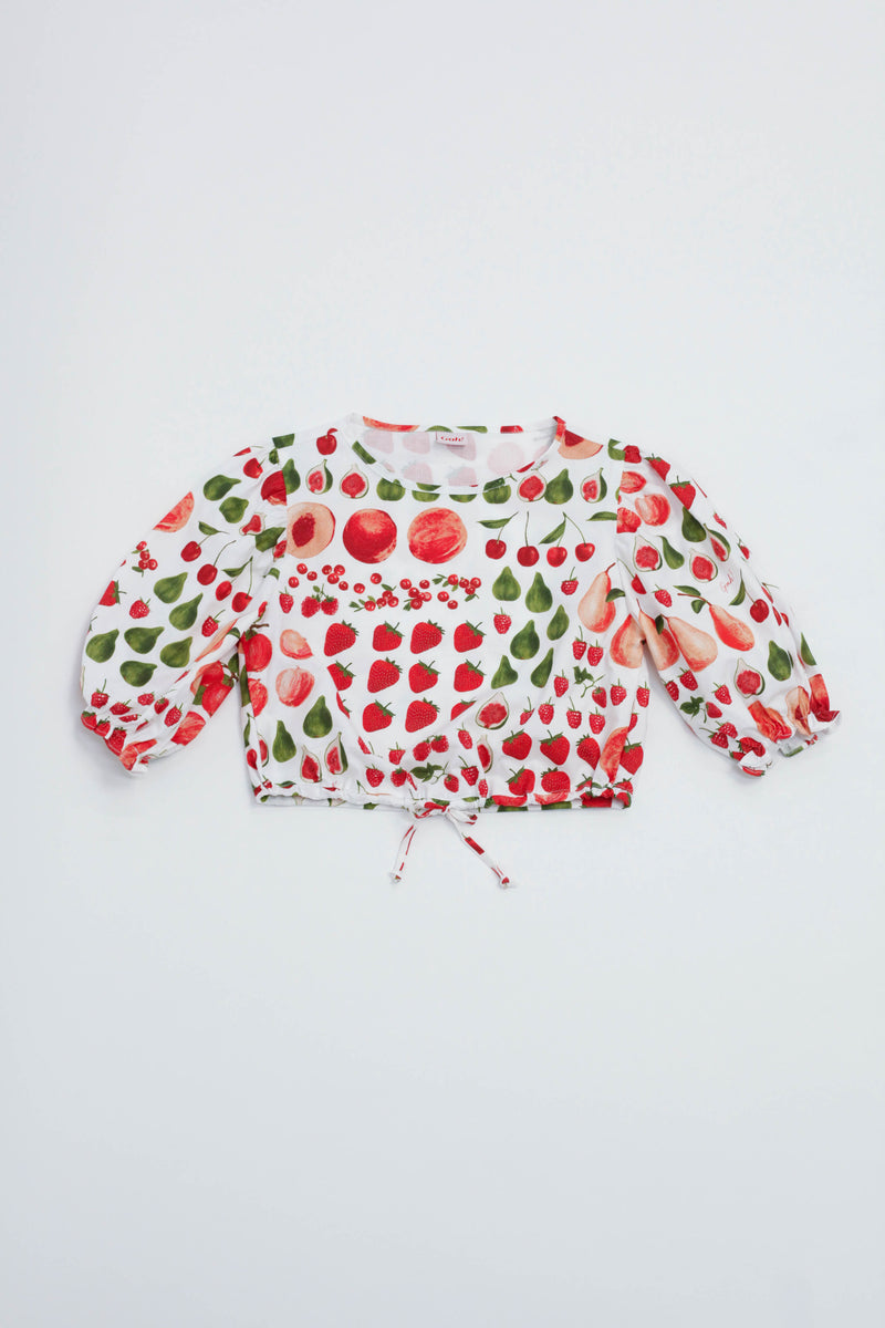 Sadie Top - Fruit Print