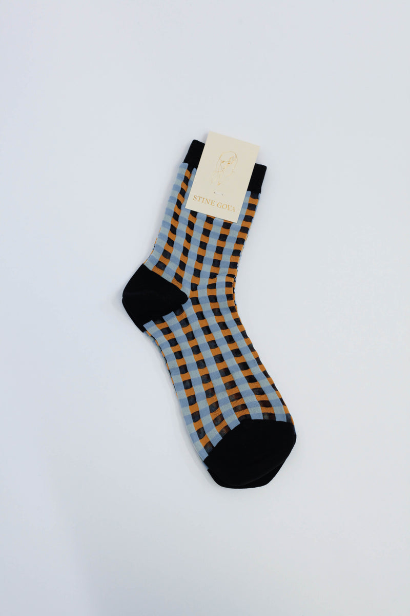 Tilly Socks - Gingham Orange