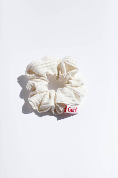 Ribbed Scrunchie - Ivory