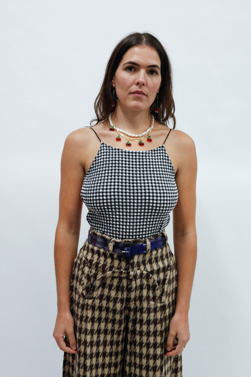 Thea Top - Stretch Gingham