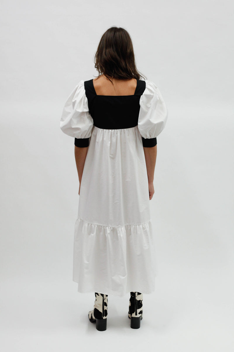 Yara Dress - Black/White
