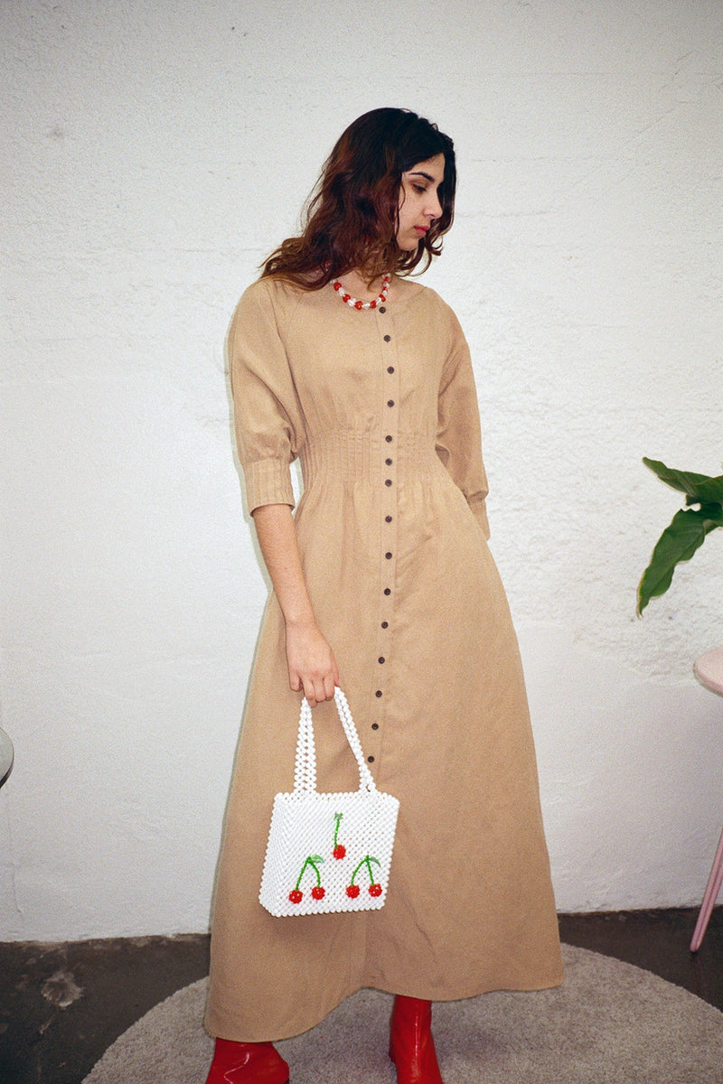 Amia Dress - Khaki