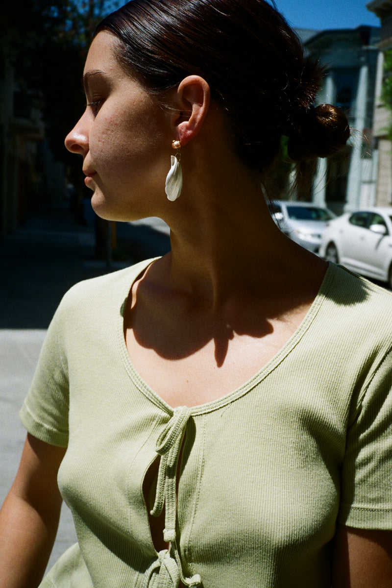Marina Earrings - Shell