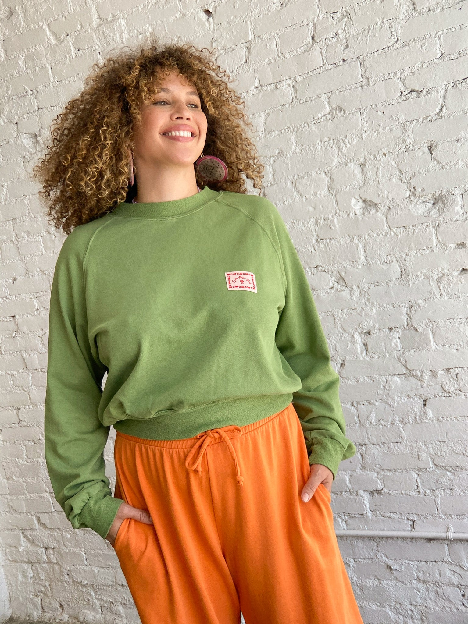 Winona Organic Terry Sweatshirt - Green