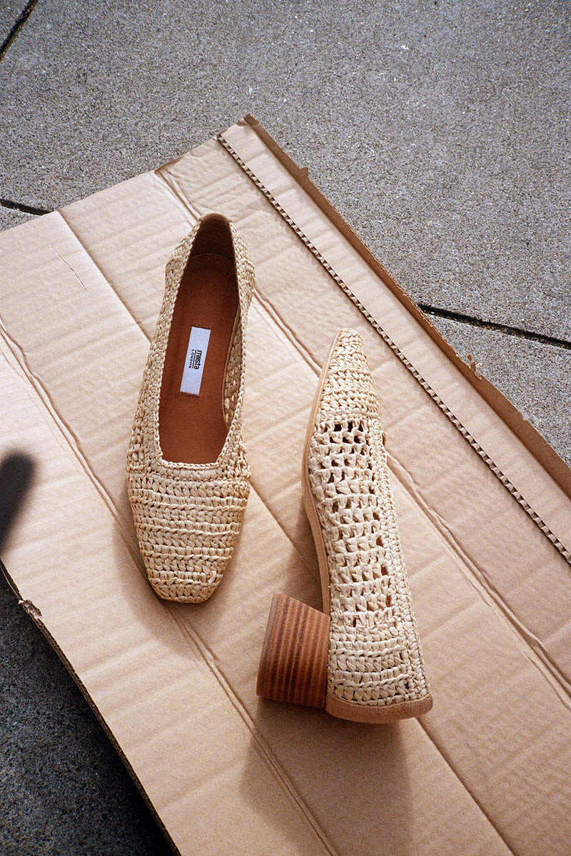 Noa Pump - Raffia Natural