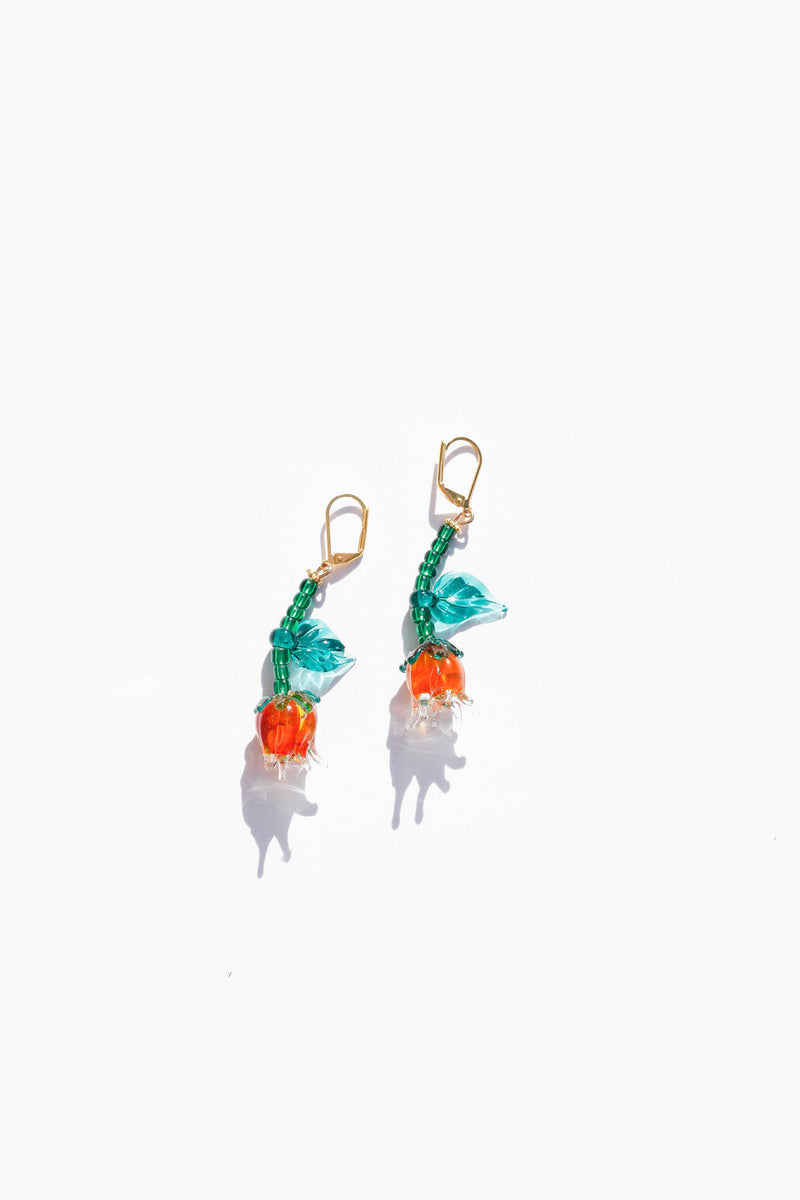Capullo Earrings - Orange