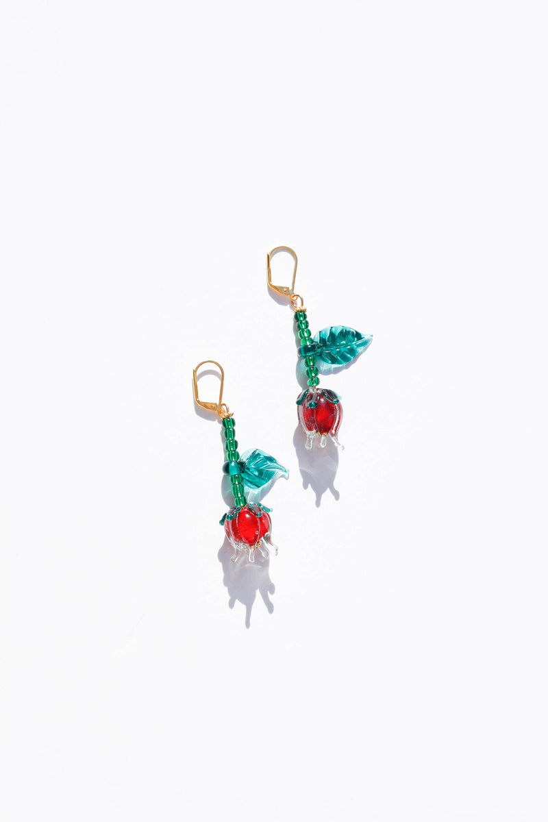 Capullo Earrings - Red