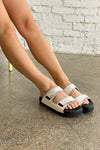 Contrast Thread Sandal - White