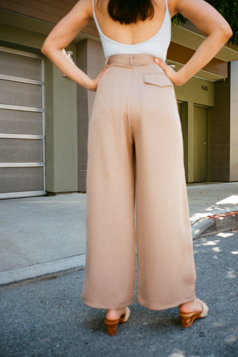 Tencel Trousers - Beige