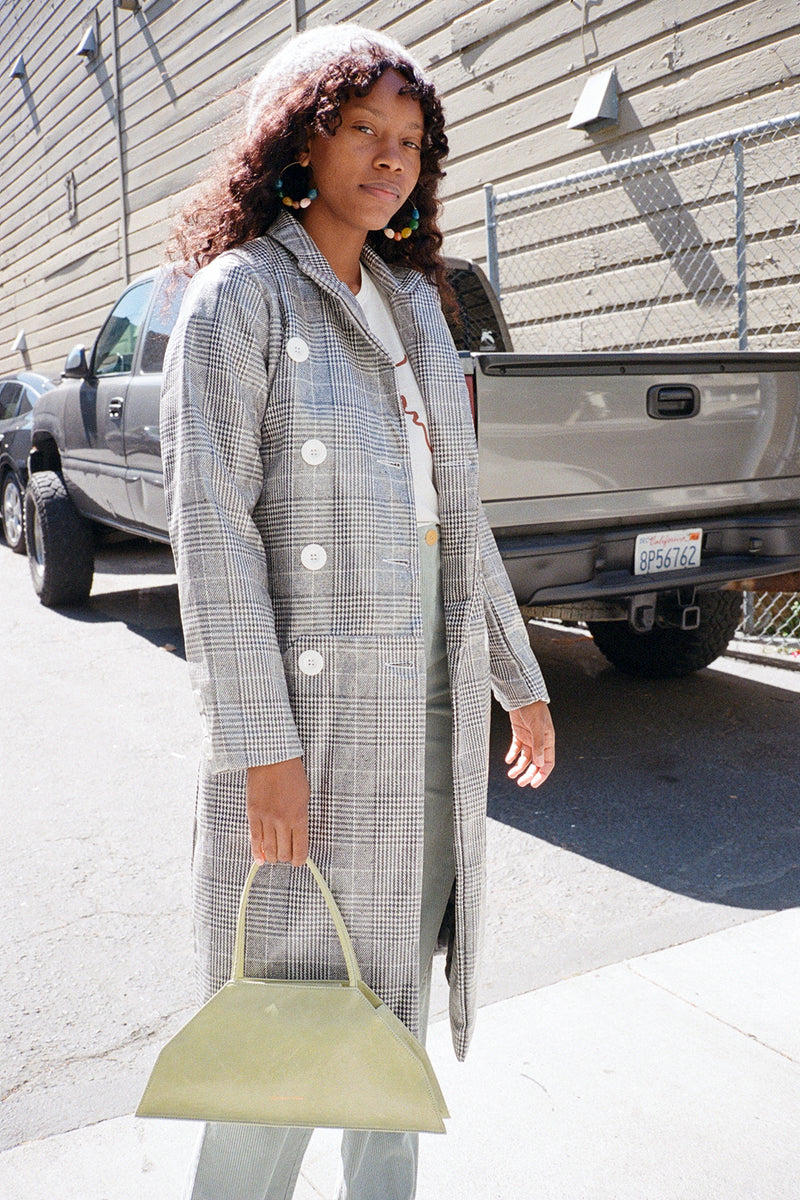 Long Tailored Nostalgia Trench Coat - Controlled Check