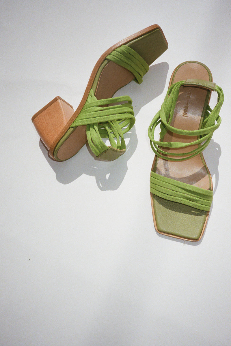 Lunes Heel - Medium Green