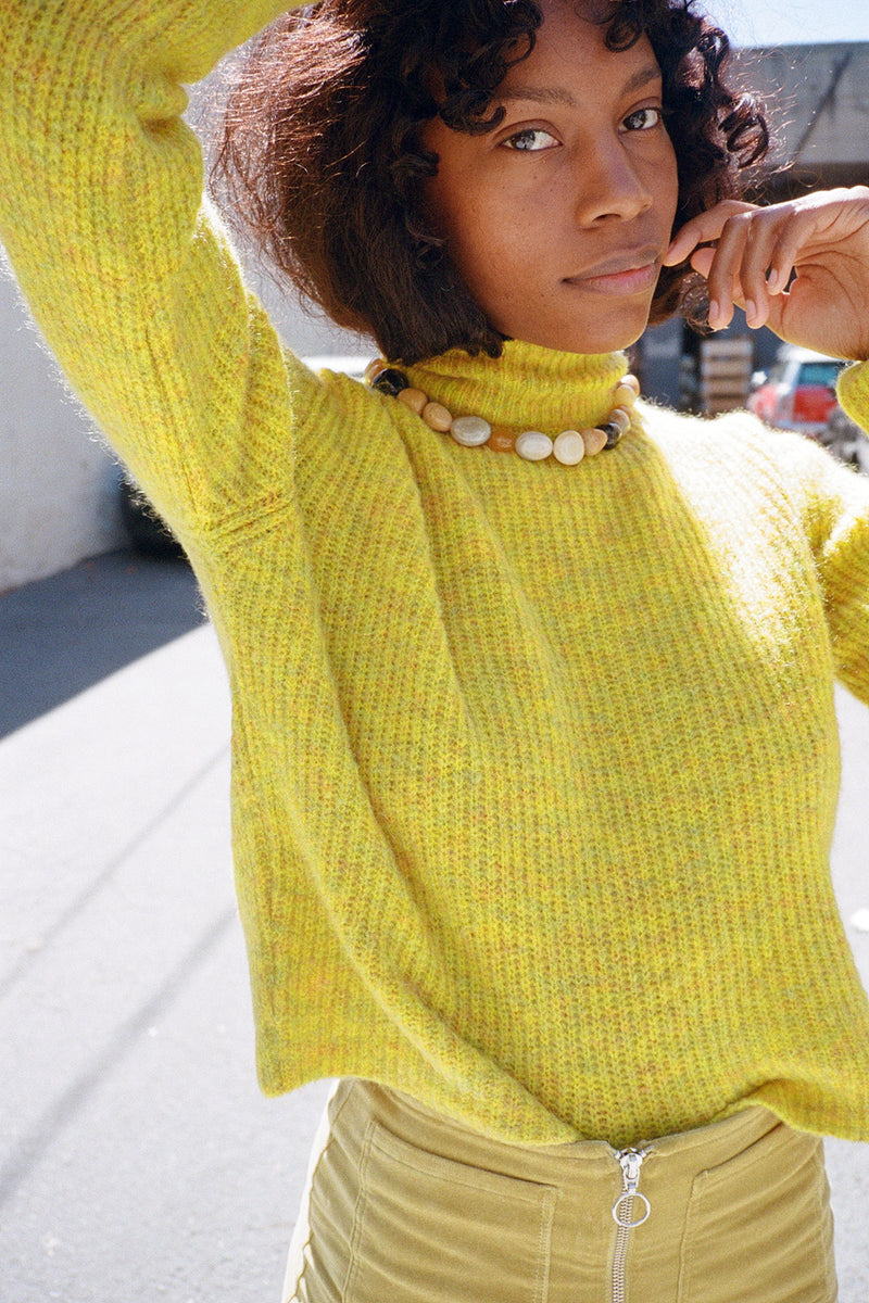 Vesta Sweater - Lemon