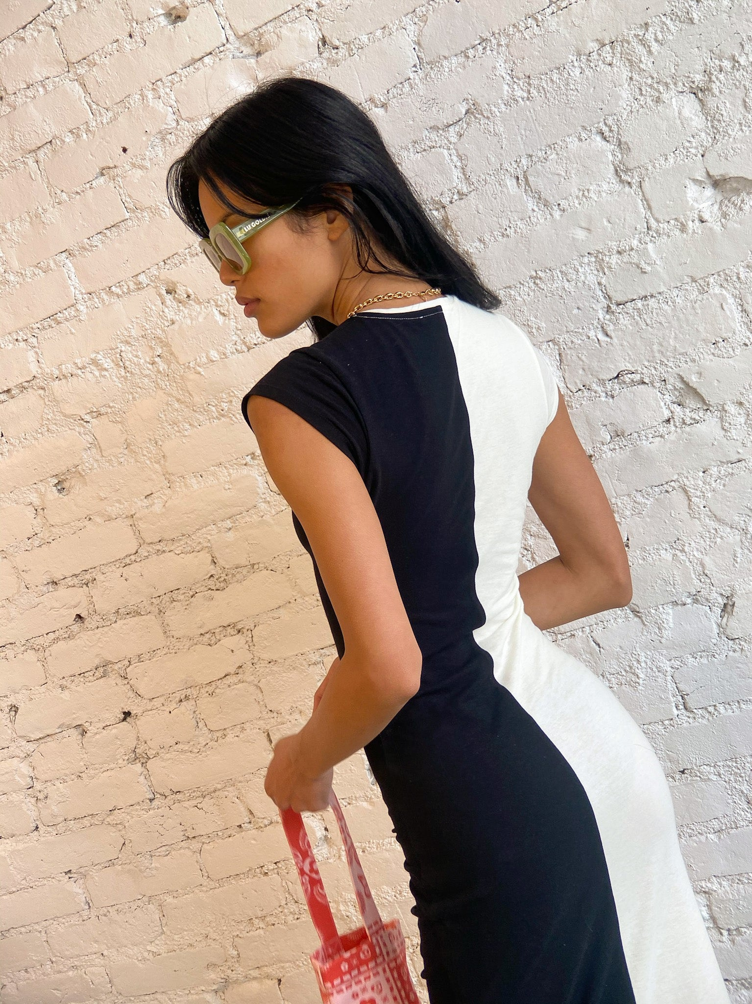 Domino Dress - Black & White