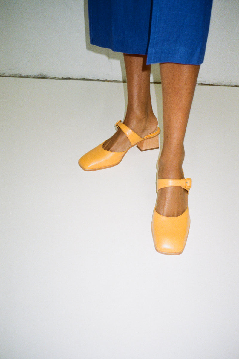 La Playa Heel - Dark Yellow