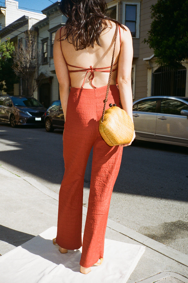 Ava Jumpsuit - Wine