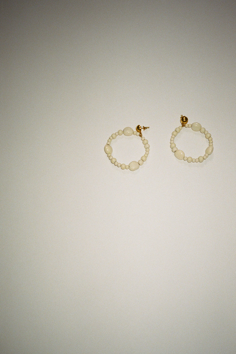 Stadio Hoop Earrings - Ecru