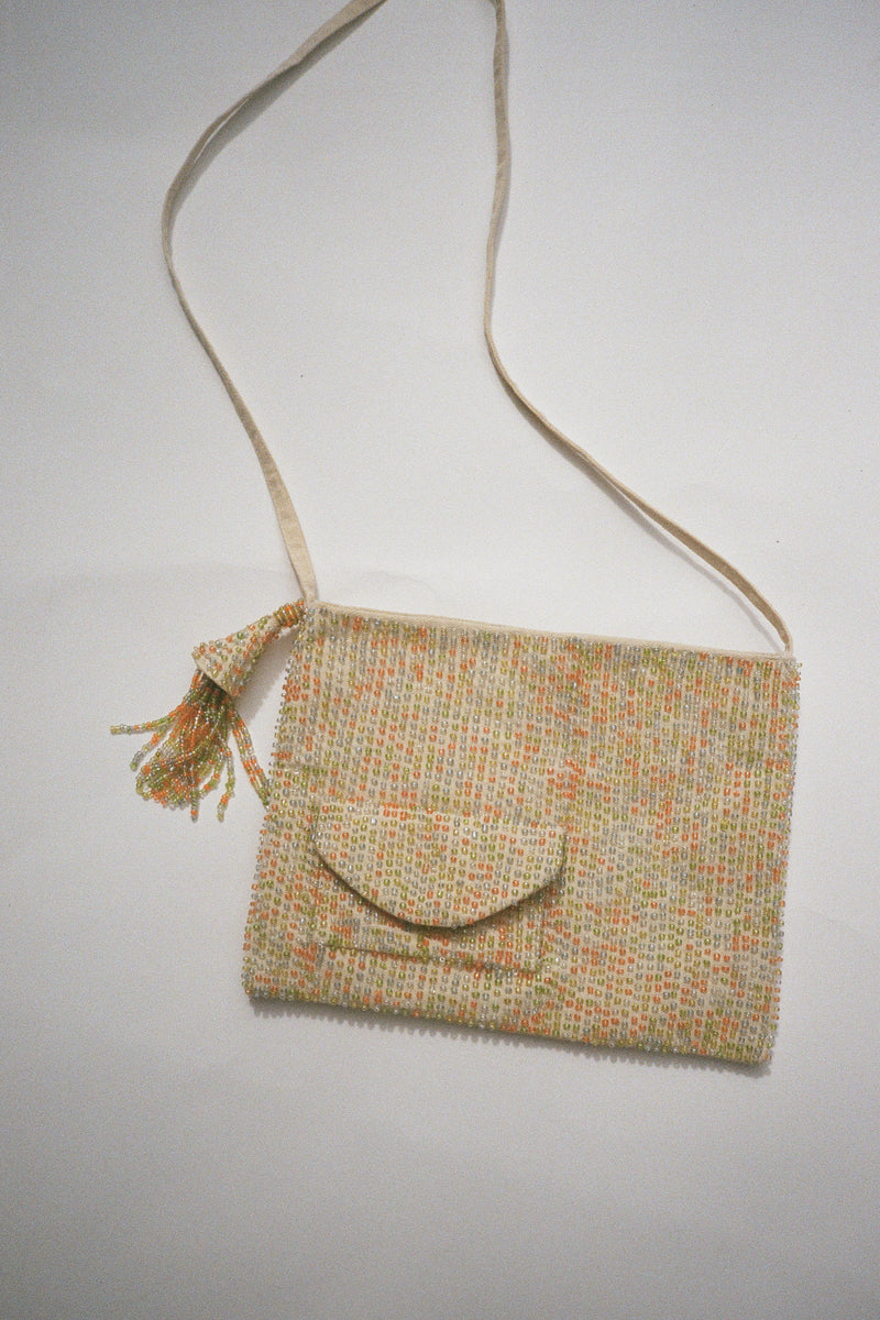 Misstani Beaded Bag - Ecru