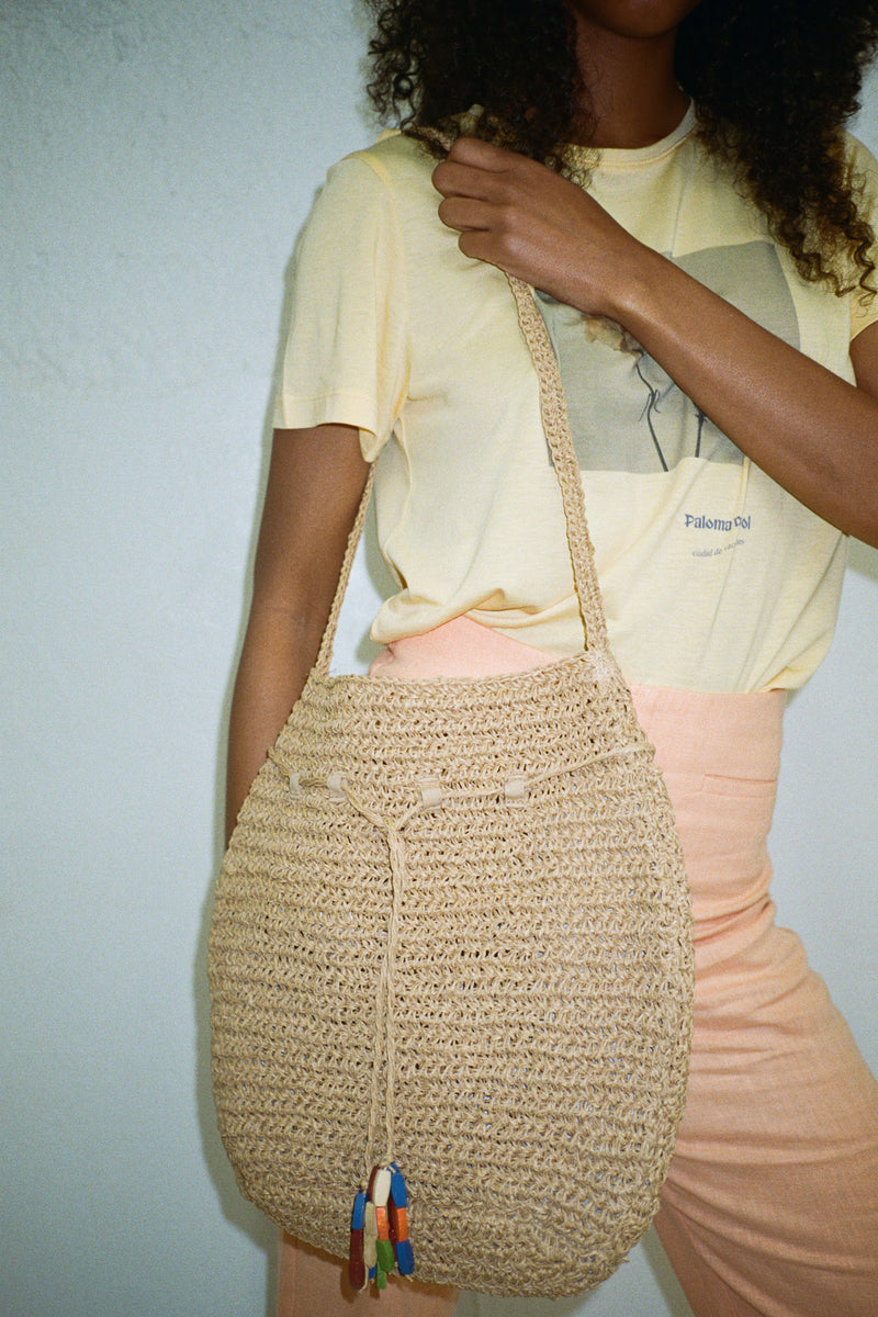 Vase Woven Bag - Natural