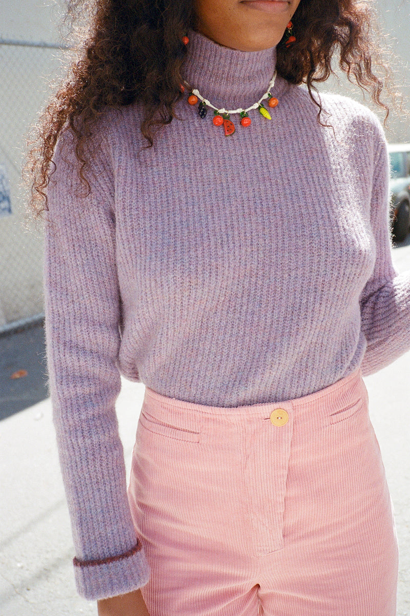 Vesta Sweater - Lilac