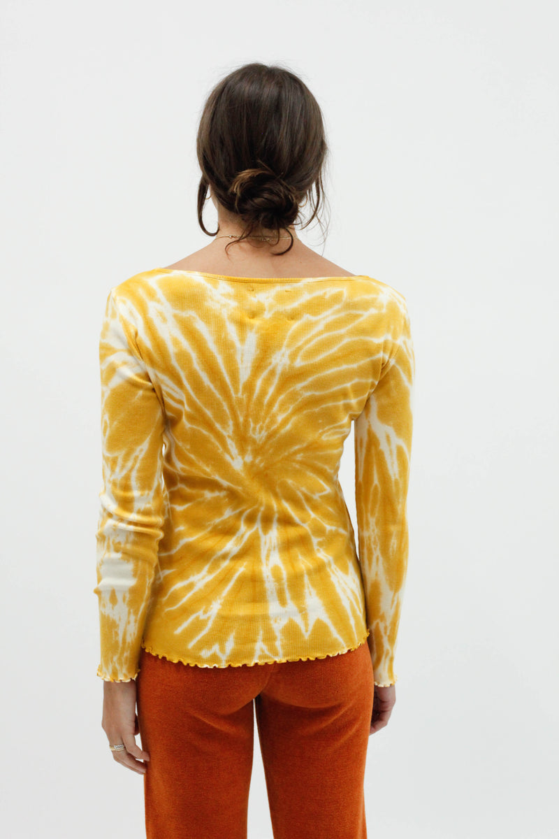 Flor tie-dye L/S Top - Yellow