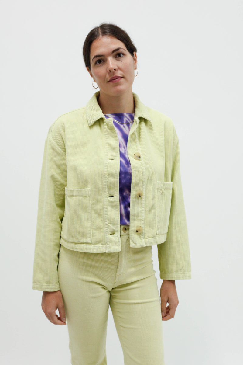 Spa Crop Jacket - Green