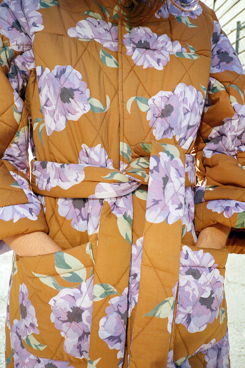 Louie Quilted Robe - Venti Floral
