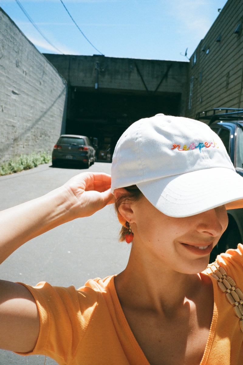 Respect Baseball Cap - White
