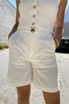 Horizon Linen Short - Vintage White