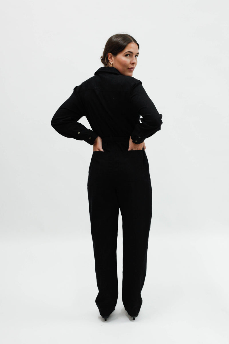 Horizon L/S Boiler Suit - Black