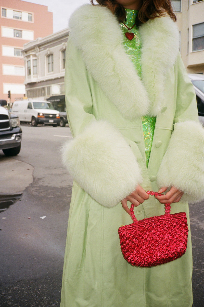 Foxy Coat - Lime Green
