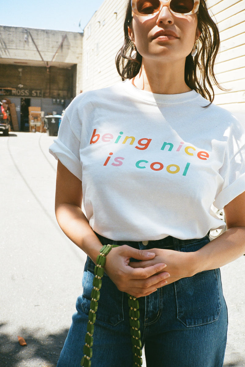 Being Nice is Cool T-Shirt - White