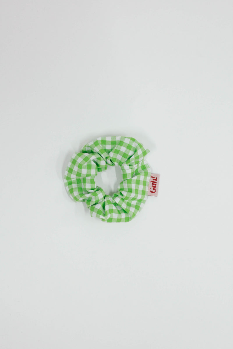 Scrunchie - Lime Gingham