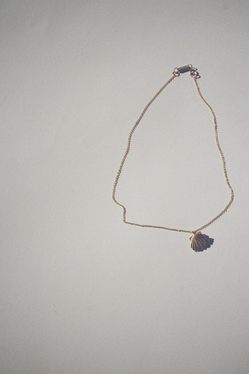 Shell with Stone Necklace
