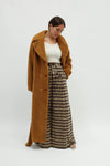 Faustine Long Teddy Coat - Nougat