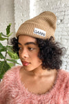 Recycled Wool Knit Beanie - Tiger's Eye