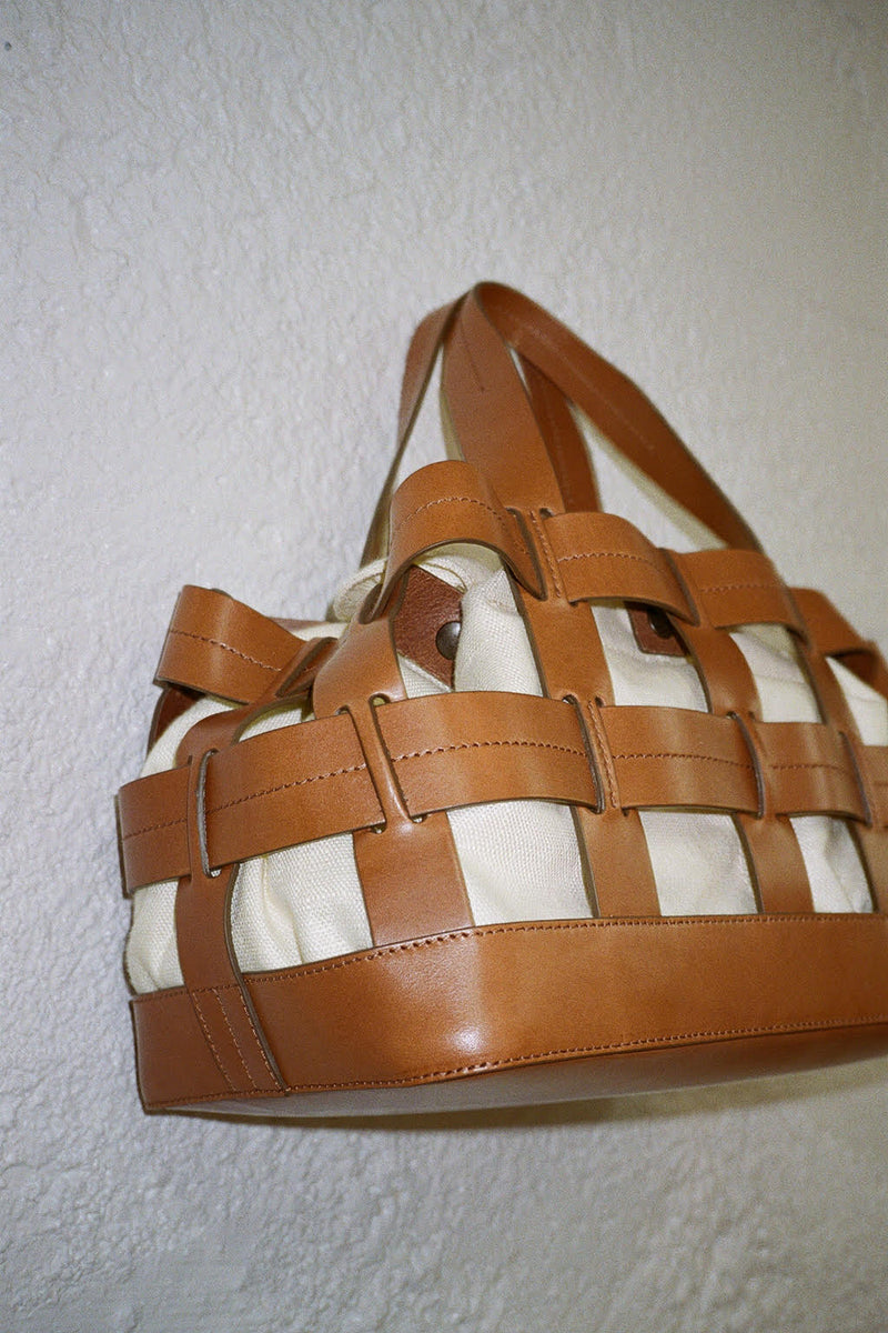 Fern Cage Tote - Saddle