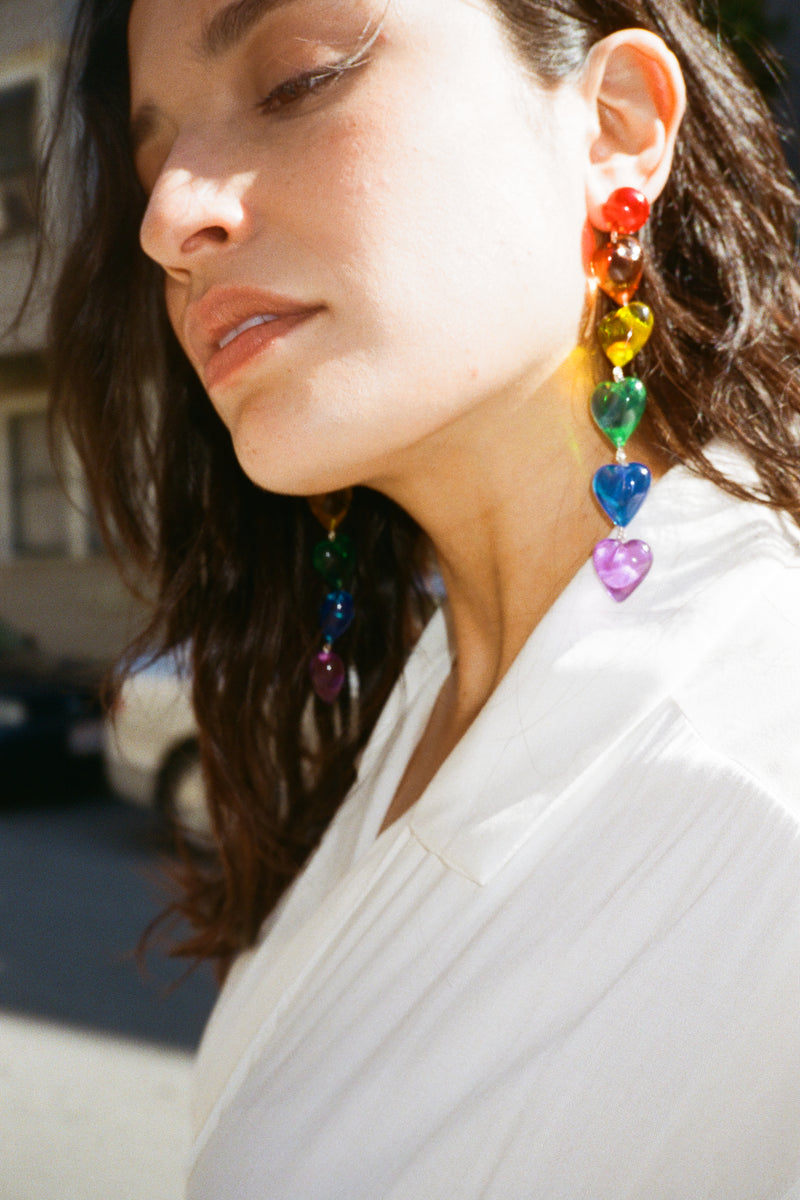 Love is Love Earrings - Rainbow