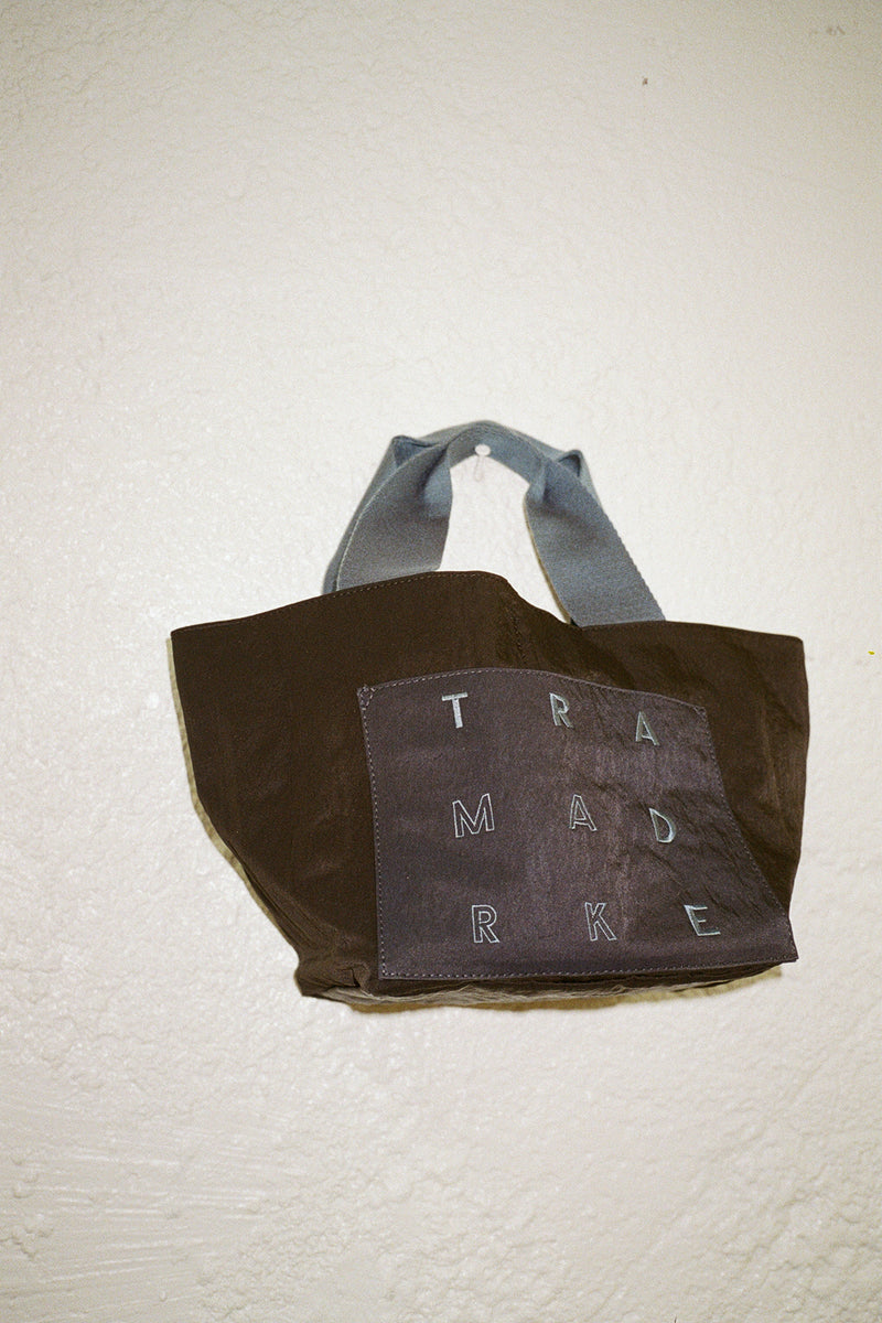 Small Reversible Nylon Tote - Navy & Black