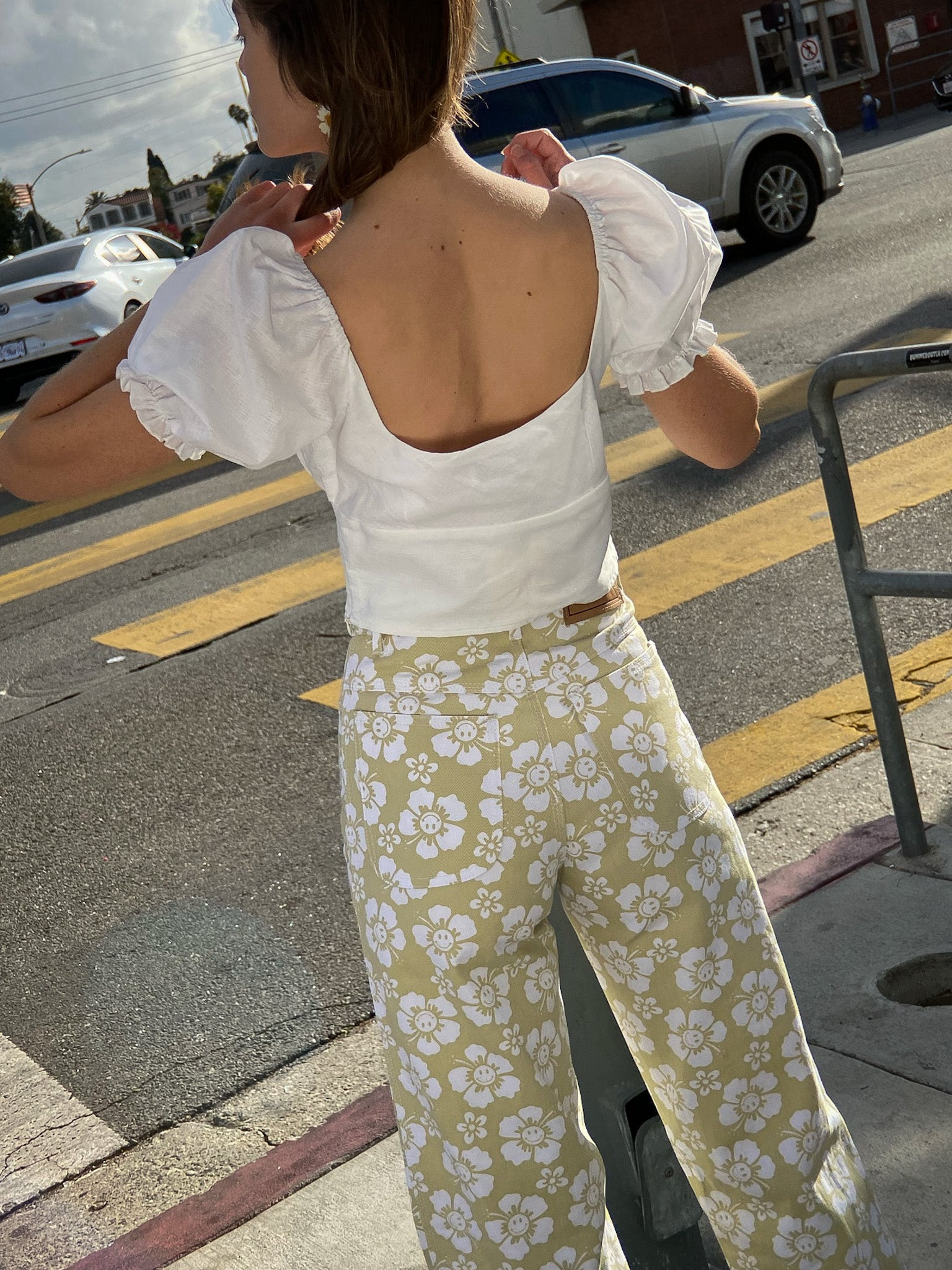 Vacation Pant - Cream Happy Hawaii