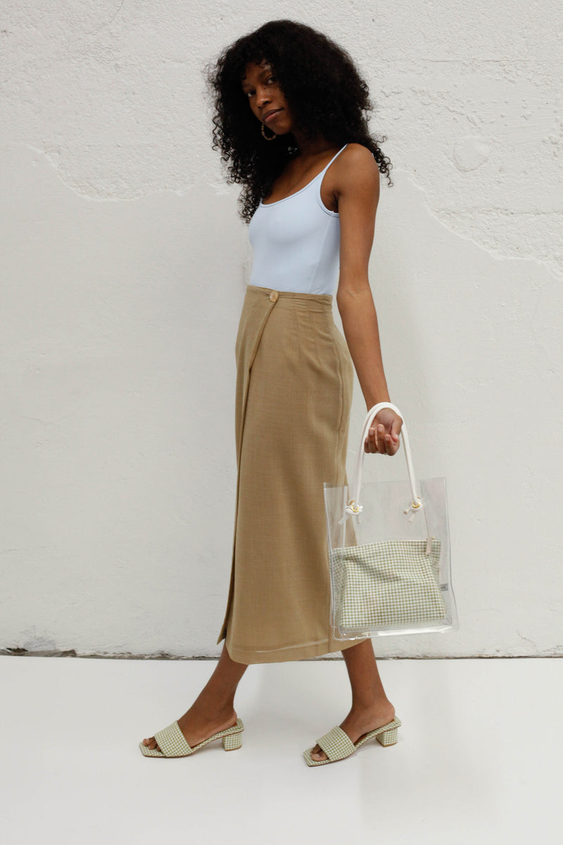 Gucci Vintage Wrap Skirt - Tan