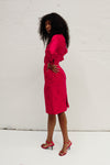 Vintage Silk Dress - Red