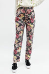 Vintage Floral High Rise Denim - Purple