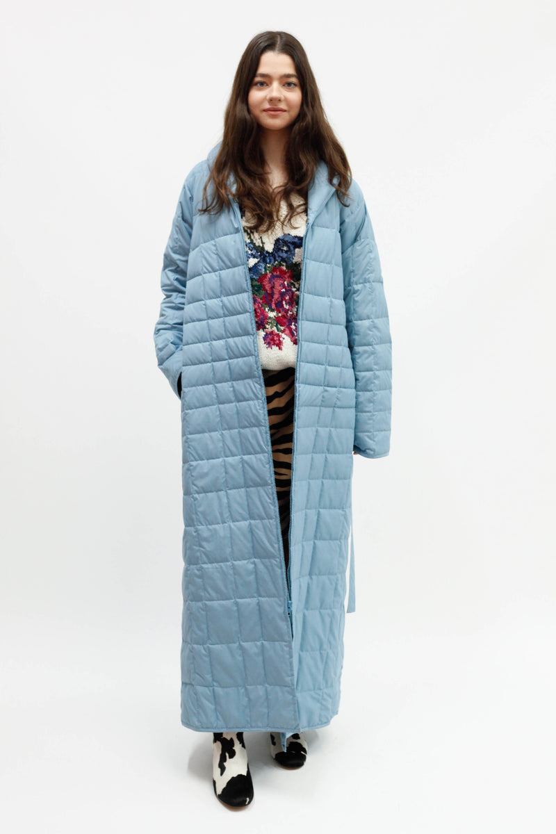 Vintage Quilted Coat - Blue