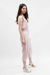 Vintage Sleeveless Jumpsuit - Pink Stripe