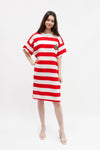 Vintage Tee Shirt Dress - Red Stripe