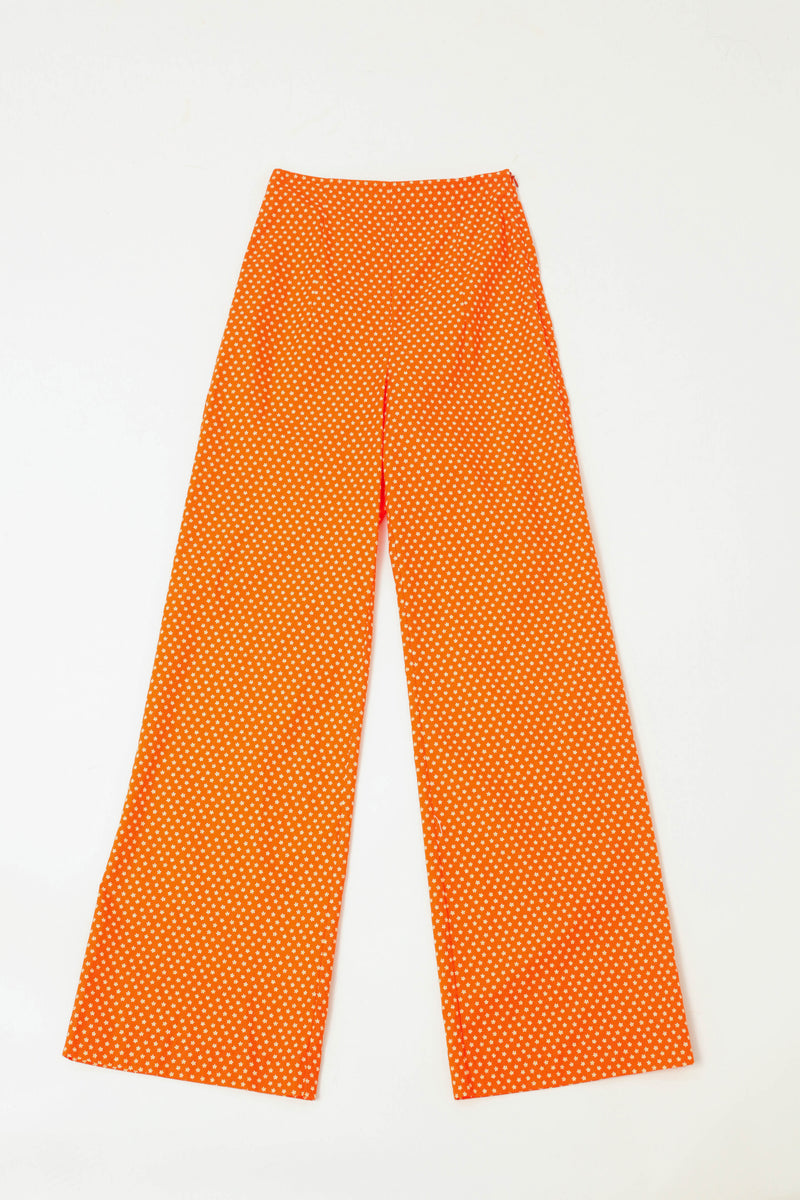 Wide Trouser - Strawberry Daisy