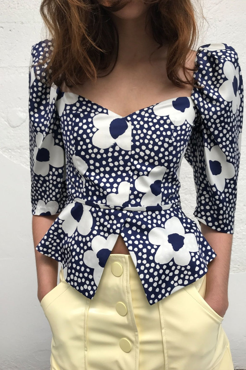 Marina Top - Navy Floral
