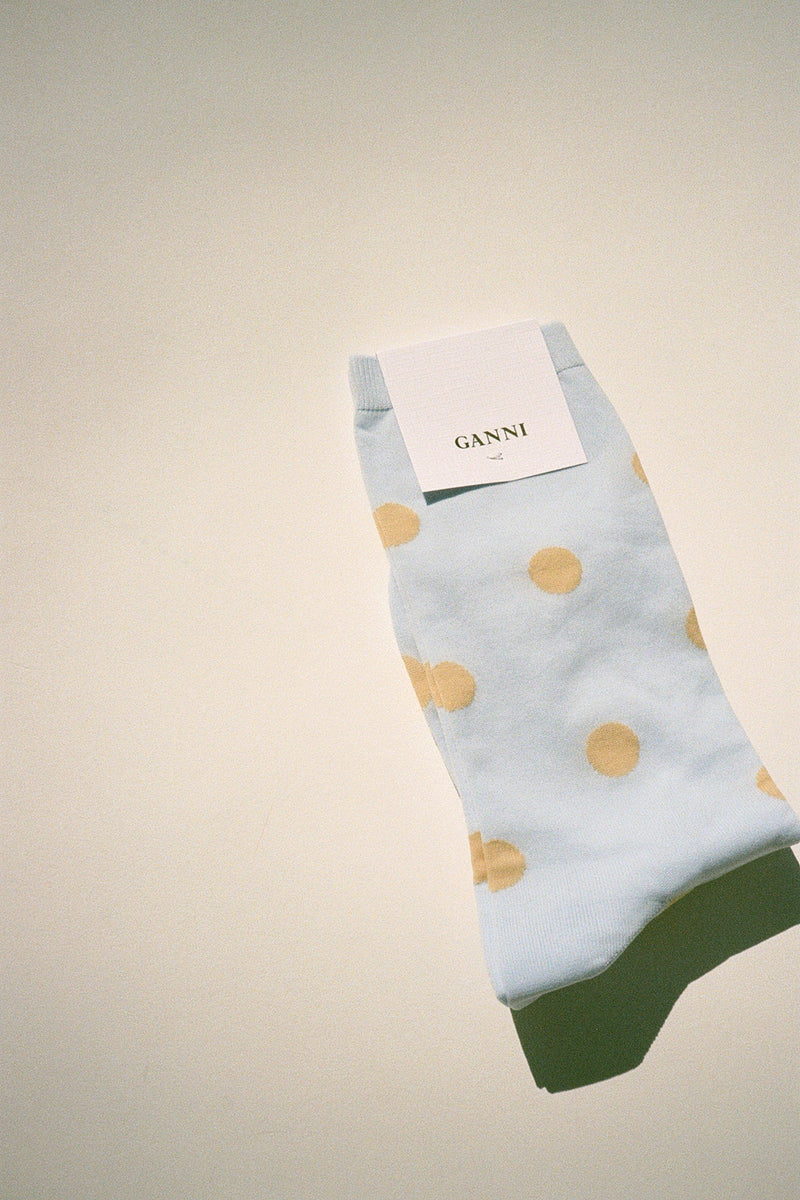 Classon Dots Sock - Serenity Blue